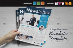 Newsletter Indesign Template by JbnHsn on Creative Market