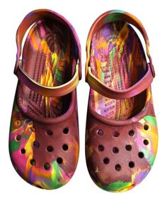 Rainbow Swirl Mary Jane - Women by Crocs. Totally awesome.   http://www.crocs.com/on/demandware.store/Sites-crocs_us-Site/default/Home-Show
