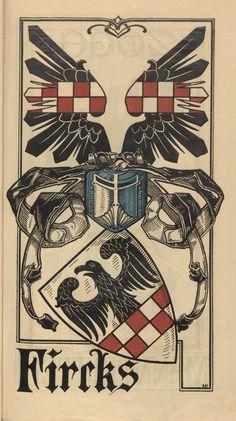 Fircks - Emblèmes familiaux d'Estonie, Lettonie & Lituanie - Calendrier en couleur (1902).
