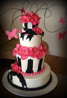 Sweet 16 Cakes, Big Cakes, Fancy Cakes, Fondant Cakes, Cupcake Cakes, Cupcakes, Beautiful Cakes, Amazing Cakes, Caramel Mud Cake