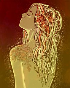 Sif She is a goddess who associated with earth. Sif is the wife of the god Thor and is known for her golden hair.