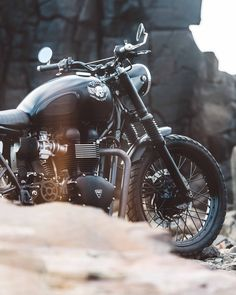 "Introducing ""The Onyx""- the latest build to come out of the House Of Simple Pleasures workshop. A customised Triumph Scrambler built to make you look twice."