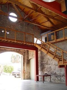Exposed brick interior