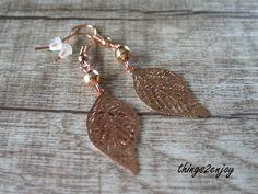 """Ohrhänger - Ohrhänger """"Rosegoldblätter"""" - ein Designerstück von things2enjoy bei DaWanda"""