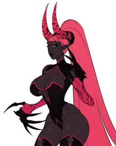 """""""i decided i wanted my dumb doll demon bitch back"""" Fantasy Character Design, Character Concept, Character Inspiration, Character Art, Ange Demon, Demon Art, Black Anime Characters, Fantasy Characters, Dark Fantasy Art"""