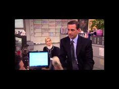The Office - Michael says goodbye to Oscar - YouTube - Rolling on the floor laughing