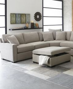 Radley Fabric Sectional Sofa Collection Created for Macyu0027s : macys furniture sectional - Sectionals, Sofas & Couches