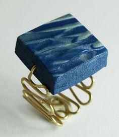 Mondego # Ring # Polymer Clay # Brass # Wire Wrapping # Metal Work # Jewellery # Andreia Ferreira # Suspiro # Portugal # Etsy # €23.00