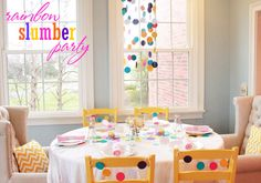 Slumber Party Ideas + How to host a tween or teen party with a positive uplifting message from @the red stitch at Mirabelle Creations, a contributor at thecelebrationshoppe.com