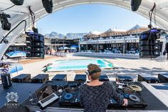 The private beach at Shimmy Beach Club would be a fabulous place to throw a private event, glamorous party or wedding, V&A Waterfront in Cape Town, corporate venue Whiskey Room, V&a Waterfront, Beach Club, Cape Town, Sun Lounger, Gazebo, Deck, Places, Party