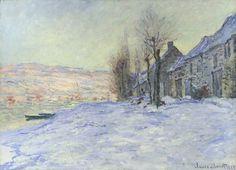 Claude Monet Lavacourt Under Snow