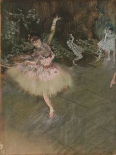 While many late-nineteenth-century painters produced both prints and  pastels, Degas was unique in combining these two mediums in his monotypes.  He created ...