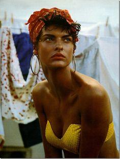 .yellow sequined bikini... Yes!