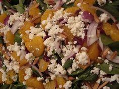 Spinach Orange Cranberry Salad