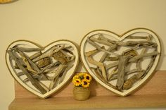 Pair of driftwood hearts / Driftwood heart / wedding decor/ Gift for him / Gift for her