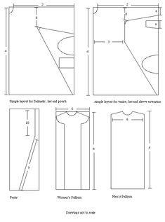 basic pattern layouts for Byzantine garb  #Byzantine #garb #SCA