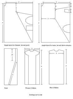 basic pattern layouts for Byzantine garb  #Byzantine #garb #SCA
