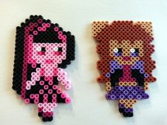 Draculaura and Clawdeen - Monster High Perler Dolls by SkellieBeads