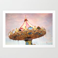 dusk at the fair Art Print by Sylvia Cook Photography - $19.00 #carnival #fair #photograph #print