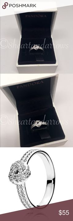 Pandora Sparkling love knot ring PICK YOUR SIZE New pandora ring Pandora Jewelry Rings