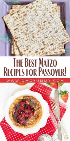 Matzo Recipes are the cornerstone of the Passover holiday. Here is everything you need to know about matzo and lots of recipes to use for the Passover seder and other meals for the 8 days or anytime matzo comfort food strikes your fancy. Whole Food Recipes, Great Recipes, Snack Recipes, Snacks, Passover Recipes, Passover Meal, Matzo Ball Recipe, Passover Holiday, Seder Meal