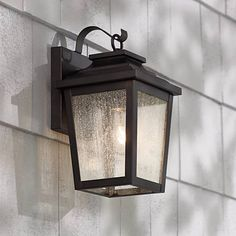 Irvington Manor High Bronze Outdoor Wall Light - Lamps Plus Open Box Outlet Site Garage Lighting, Porch Lighting, Sconce Lighting, Outdoor Wall Light Fixtures, Exterior Lighting Fixtures, Carriage Lights, Porch Lamp, Outdoor Party Lighting, Outdoor Decor
