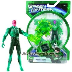 Mattel Year 2010 Green Lantern Movie Power Ring Series 4 Inch Tall Action Figure - GL07 ABIN SUR with Jumbo Mace Construct and Ring…
