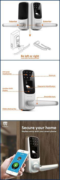 Access Control for Frameless Silver Keypad Lock Password Easy Installation Access Control System Glass Door Lock Bluetooth APP Lock Electronic Doorlock