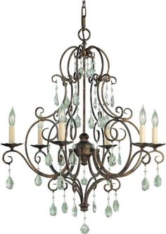 Murray Feiss F19026MBZ Chateau 6 Light Single Tier Chandelier Mocha Bronze * Learn more by visiting the image link.