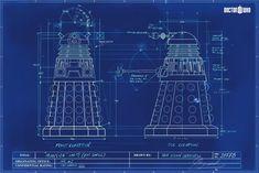 Dalek Blueprint Doctor Who Poster