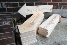 DIY  Custom Direction Arrow Carved Wooden Sign  by rusticcarvings