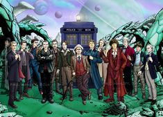 The Thirteen Doctors by PaulHanley.deviantart.com on @deviantART