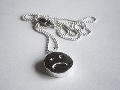 HAPPY/UNHAPPY necklace by marmod8 on Etsy