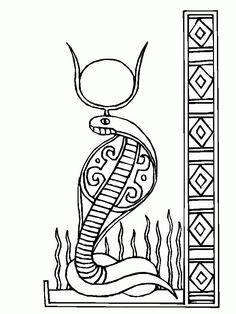 204 best egyptian patterns images in 2019 egyptian art ancient Egypt Clothing wadjet a cobra head figure of ancient egypt paharoh coloring page abc coloring pages coloring