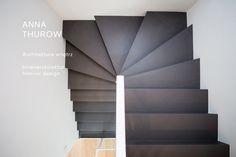 minimalistic stairs black slate stairs czarne schody z łupka www.annathurow.pl