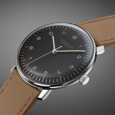 JUNGHANS the new Max Bill Design in its purist form New dimensions to the max bill by junghans range (See more at En: http://watchmobile7.com/articles/junghans-new-max-bill) (1/3)  #watches #junghans