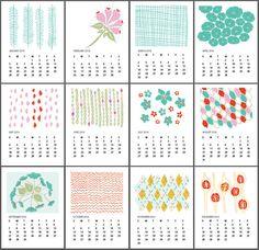 Printable calendar by Sophie Benoit | Cool Mom Pickshgihuhtrj8jhtr89ijhrt9ijht9u how do u print it