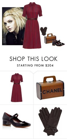 """""""Fiercely Mary Jane"""" by blueeyed-dreamer ❤ liked on Polyvore featuring Altuzarra, Chanel, Marc Jacobs, Gizelle Renee, vintage, stripes, maryjanes, gloves and polyvorecontest"""