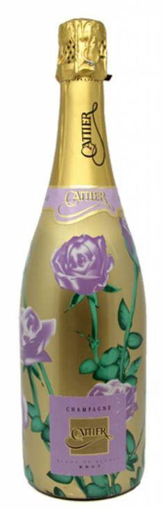 Cattier's elegante Blanc de Blancs les Roses Champagne met de mauve roosjes als eerbetoon aan Chigny-les-Roses