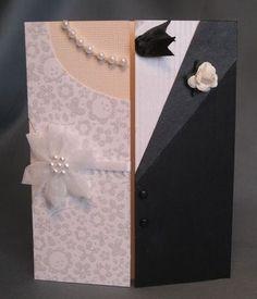 A Piece of Lisa: Paper Pleasures--Wedding Cards Handmade Greetings, Greeting Cards Handmade, Cute Cards, Diy Cards, Wedding Shower Cards, Wedding Cards Handmade, Wedding Gifts, Wedding Ideas, Dress Card