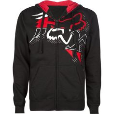 Fox Racing Men's Satter Hoodie Sweatshirt-Black/white $59.50
