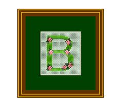 Capital Letter B Counted Cross Stitch Pattern. by HelensCrossing