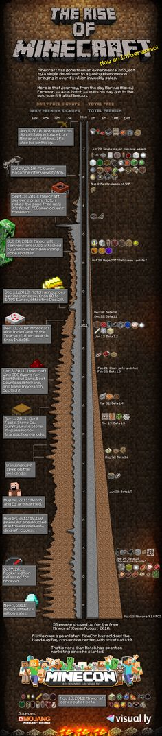 Minecraft, the infographic