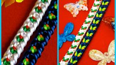 Kumimari 40: Pulsera Reversible de Kumihimo: Rosas y Mariposas