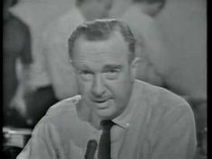 Walter Cronkite announcing the death of U.S. president John F. Kennedy on November 22, 1963.