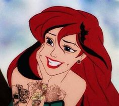 ImageFind images and videos about disney, mermaid and ariel on We Heart It - the app to get lost in what you love. Emo Disney, Dark Disney, Disney Love, Little Mermaid Cartoon, The Little Mermaid, Goth Disney Princesses, Disney Characters, Disney Icons, Disney Facts