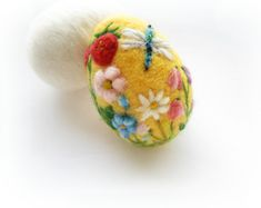 Easter EggNeedle felted eggSpring OrnamentNeedle by Crafts2Cherish