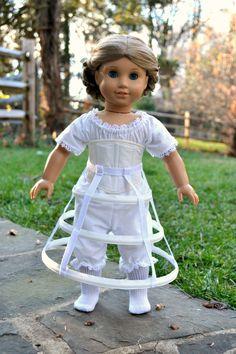 Muñeca corsé y falda aro fundamentos por PemberleyThreads en Etsy