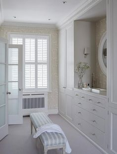Built In Dresser - Design photos, ideas and inspiration. Amazing gallery of interior design and decorating ideas of Built In Dresser in bedrooms, closets, girl's rooms, nurseries by elite interior designers - Page 4 Built In Dresser, Built In Cabinets, Walk In Closet Design, Closet Designs, Design Room, Armoire Cabinet, Cabinet Ideas, Closet Built Ins, London Townhouse