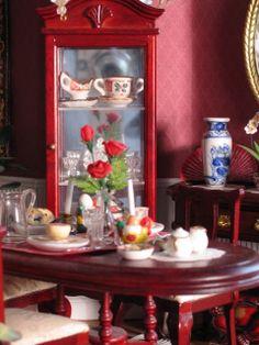 BluKatKraft: 1:12 Scale Victorian Dollhouse Miniatures: Kitchen and Dining Room, Pt.3